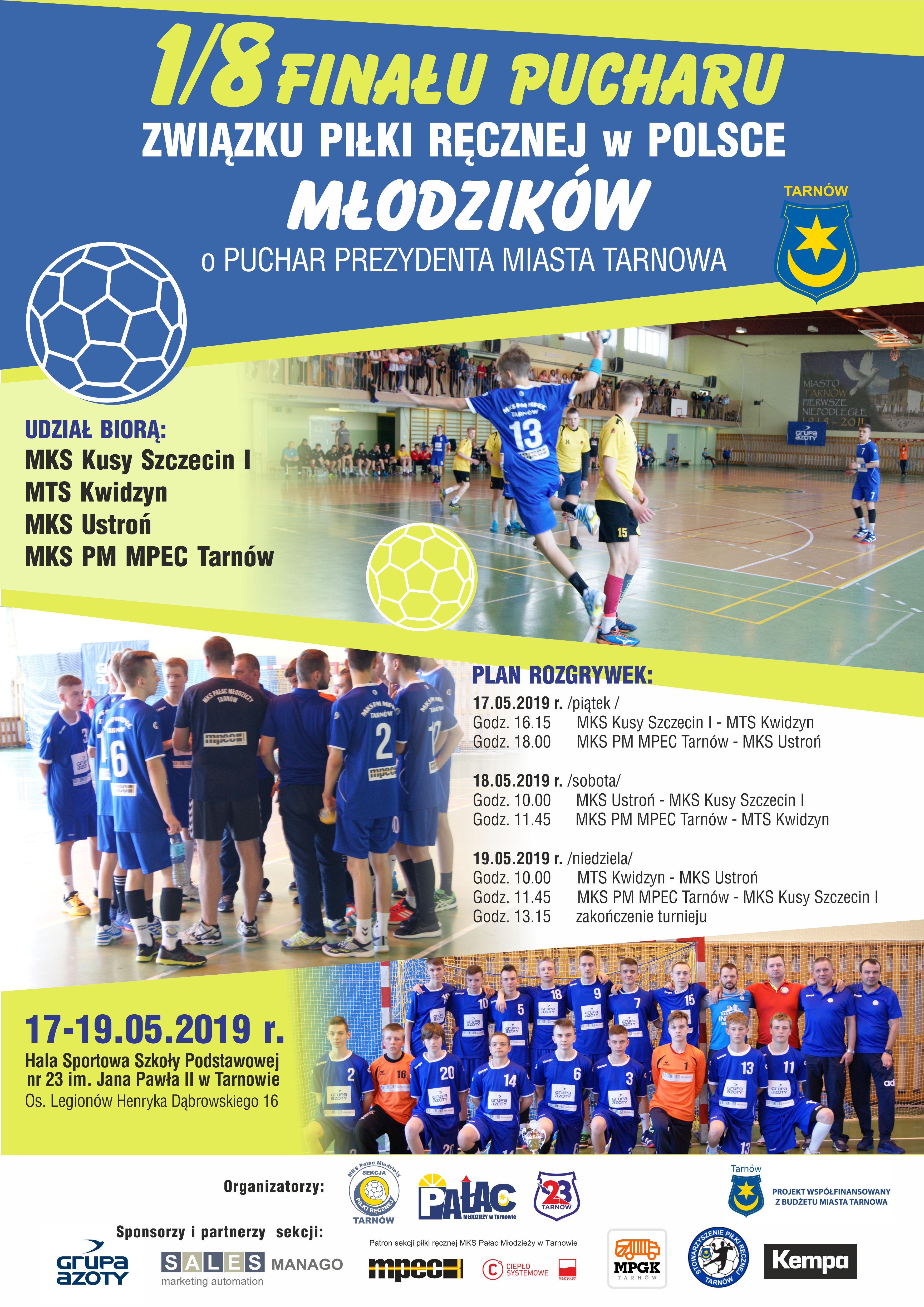 da1641a21 Zaproszenie 1- 8 Finału Pucharu ZPRP Młodzików